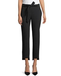 Laundry By Shelli Segal High Waist Skinny Crepe Pants Black