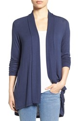 Bobeau Petite Women's Long Cardigan Navy Peacoat
