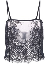 Fleur Du Mal All Over Lace Cami Black