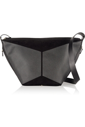 Jerome Dreyfuss Abel Textured Leather And Suede Tote