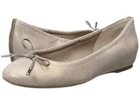 Rockport Total Motion Hidden Wedge Tied Ballet Ash Snake Women's Flat Shoes White