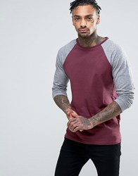 Another Influence Raglan Long Sleeve Top Red
