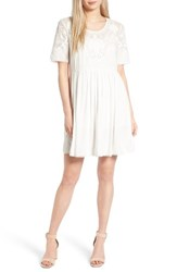 French Connection Women's Shannon Fit And Flare Dress Summer White