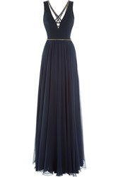 Jenny Packham Floor Length Gown With Embellishment Blue