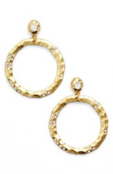 Women's Karine Sultan Jewely Cubic Zirconia Frontal Hoop Earrings Gold