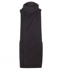 Rick Owens Hooded Cotton Blend Gilet Black