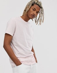 New Look T Shirt In Pink Stripe