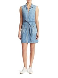 7 For All Mankind Zip Front Denim Dress Luxe Lounge Coast