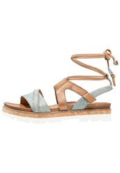 Mjus Sunrise Platform Sandals Surf Blue Grey