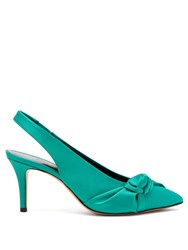 Isabel Marant Pansee Satin Pumps Green