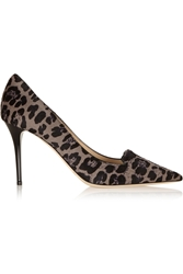 Jimmy Choo Alia Leopard Print Calf Hair Pumps