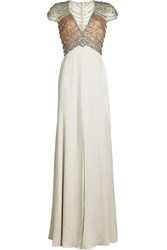 Jenny Packham Floor Length Gown With Crystal Embellishment