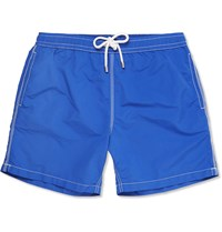 Hartford Mid Length Swim Shorts Bright Blue