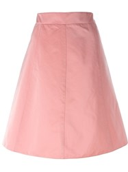 Red Valentino A Line Skirt Pink And Purple