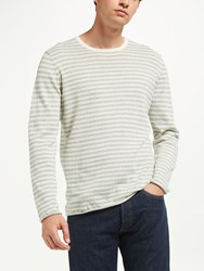 Samsoe And Samsoe Ernie Long Sleeve Stripe Jumper Grey