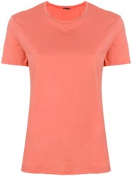 Aspesi Round Neck T Shirt Pink And Purple