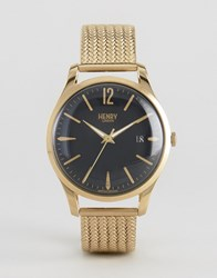 Henry London Westminster Mesh Watch In Gold Gold