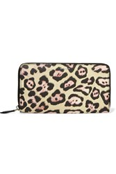 Givenchy Continental Wallet In Leopard Print Coated Canvas