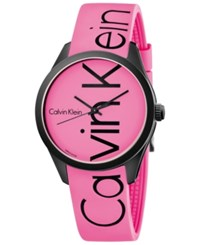 Calvin Klein Men's Color Pink Silicone Strap Watch 40Mm K5e51tzp