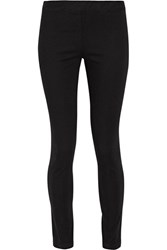 The Row Stratton Stretch Cotton Leggings Black