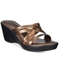 Easy Street Shoes Tuscany Luisa Wedge Sandals Women's Bronze