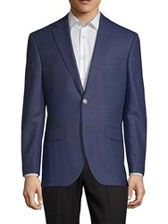 Jack Victor Conway Notch Lapel Wool Jacket Navy