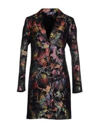 Paola Frani Full Length Jackets Black