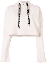 Dondup Cropped Hoodie Pink And Purple