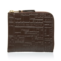 Comme Des Garcons Sa3100el Embossed Logo Wallet Brown