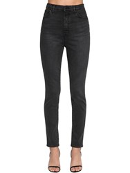 J Brand 1212 Runway Super High Straight Jeans Black