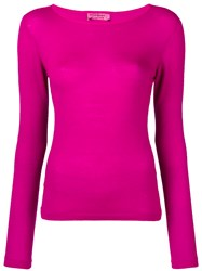 Yves Saint Laurent Vintage Boat Neck Top Pink And Purple