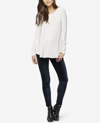 A Pea In The Pod Maternity Long Sleeve T Shirt White