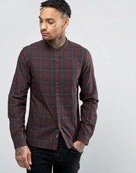 Replay Slim Fit Shirt Dark Check Red Check