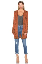 House Of Harlow X Revolve Amber Embellished Coat Rust