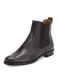 Gravati Calfskin Leather Chelsea Boot Black Size 37.0B 7.0B