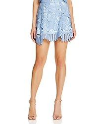 Lovers Friends Lace Scallop Mini Skirt Crystal Blue