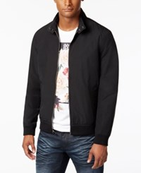 Inc International Concepts Men's Snap Collar Bomber Jacket Only At Macy's Deep Black