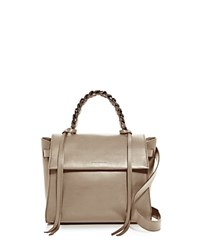 Elena Ghisellini Angel Sensua Small Leather Satchel Canguro Tan Gunmetal