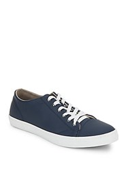 Cole Haan Lace Up Leather Sneakers Blazer Blue