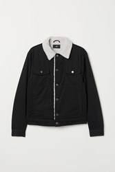 Handm H M Pile Lined Twill Jacket Black