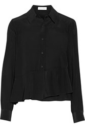 Tanya Taylor Amy Silk Crepe De Chine Top Black
