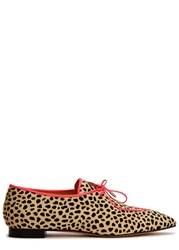 Charlotte Olympia Winky Cheetah Print Calf Hair Shoes Leopard