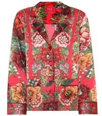 F.R.S For Restless Sleepers Ade Printed Silk Shirt Red