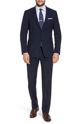 Hart Schaffner Marx New York Classic Fit Plaid Wool Suit Navy