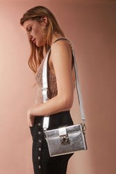 Urban Outfitters Hard Case Crossbody Bag Silver