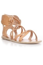 Ancient Greek Sandals Multi Strap New Winged Sandal Beige