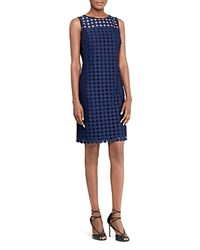 Ralph Lauren Embroidered Sheath Dress Lighthouse Navy