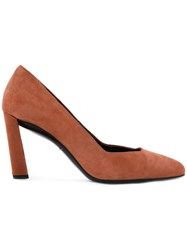 Robert Clergerie 'Quoli' Pumps Yellow Orange