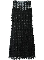 Carven Embroidered Lace Dress Black