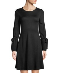 Cynthia Steffe Tie Bell Sleeve Sweater Dress Black